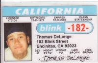 Thomas Rock Group Blink182  - Encinitas California CA Drivers License