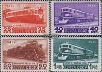 Sowjet-Union 1414-1417 (kompl.Ausg.) gestempelt 1949 Eisenbahn