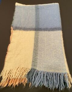 """Vintage Faribault Mohair and Wool Throw Blanket Approx 47"""" x 71"""" (120 x 180 cm)"""