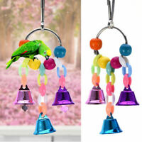 Pet Chew Toy Bird Budgie Parrot Cage Hanging Biteing Bites Bell Funny Toys
