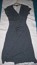 NWT ANN TAYLOR WRAP DRESS BLUE COLORS SIZE 8 $118