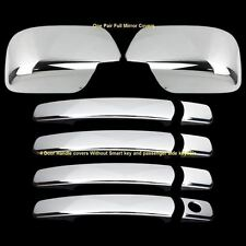 For  2008-2013 Nissan Rogue Chrome Full Mirror 4 Door handles covers