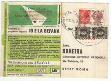 UU0031 - TRICOLORE SU CARTOLINA 17-10-78 MARCA DA BOLLO PER POSTA
