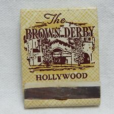 THE BROWN DERBY, HOLLYWOOD, CALIFORNIA, FRONT STRIKE MATCHBOOK