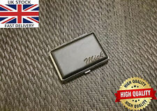Laser Engraved Tobacco 14 Cigarette Tin Case Leather Personalised Gift Unusual