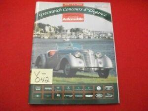 AUTOMOBILE MAGAZINE'S 7th GREENWICH CONCOURS d'ELEGANCE JUNE 1-2, 2002 PROGRAM