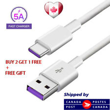 3ft Type C USB C Cable 5A Quick Charge Phone Data Wire Huawei P20 , PRO V10 P10