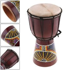 Professional African Djembe Drum Painting Wood Goat Skin Gift Instrument 6 Inch