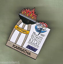 KARRATHA  2000 OLYMPIC AMP TORCH RELAY PIN