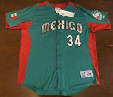 Rare Majestic WBC Mexico Fernando Valenzuela Baseball Jersey