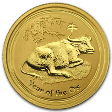 2009 Australia 1/10 oz Gold Lunar Ox BU (Series II) - SKU #43916
