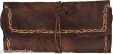 MR Bolsa para tabaco Adler/Bolsa de tornero/16,5 cm/Cuero marrón Antigua/