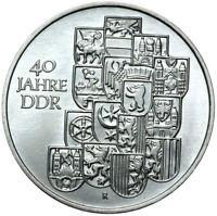 Gedenkmünze DDR - 10 Mark 1989 A - 40 Jahre DDR Bezirkswappen - Stempelglanz UNC