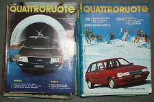 Lotto rivista Quattroruote - 115 numeri di annate dal 1979 al 1992