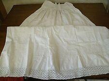 Vintage Victorian cotton & lace Petticoat (P4)