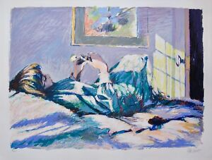 """ALDO LUONGO """"ALICIA"""" Hand Signed Limited Edition Large Serigraph Art"""