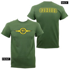 Authentic THE PIXIES Lightning P Logo T-Shirt Army Green S M L XL NEW