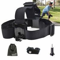 EEEKit Head Mount Kit For Sony Action Cam Head Belt flexible Strap+Mount Adapter