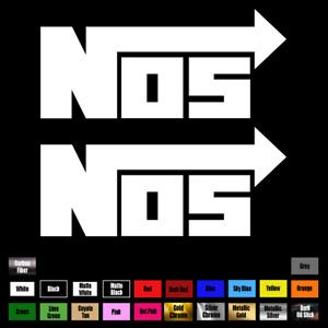 "2X Nitrous NOS vinyl decal sticker for car  5.5"" x 2.5"" Racing JDM Window 087"