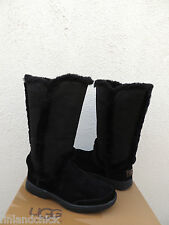 UGG BLACK KATIA TALL WATER-PROOF SUEDE/ SHEEPSKIN BOOTS, US 9/ EUR 40 ~NEW