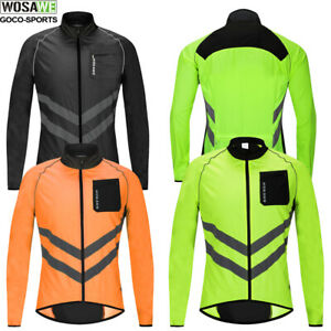 Mens Cycling Jacket High Visibility Reflective Waterproof Running Top Windproof