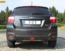 FOX Sportauspuff Subaru XV 2.0l - rechts links je 1 x 145x65mm Trapez (RohrØ