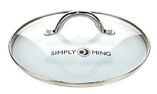 "Simply Ming 9-1/2"" Vented Tempered Glass Cookware Lid"
