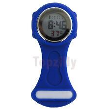 New Digital Multi Function Blue Nurses/Brooch/Tunic/Fob/Pocket/ Silicone Watch