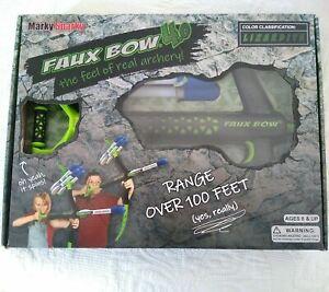 Marky Sparky 61006 Faux Bow 4.0 Lizardite Foam Archery Arrows Set Black/Green 6+