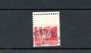 France 1932 Peace series 90c red SG511 variety used with top of stamp omitted