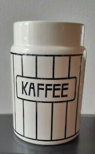 Wächtersbach Jugendstil Kaffeedose  Höhe 16,5 cm - schwarz weiss  Dec 2490