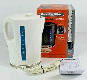 Proctor Silex Durable 1.7 Liter Cordless Electric Kettle 41002 White Base