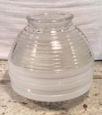 Mid Century50' Flush Mount Light Vintage Glass Shade Original Patina on The Base