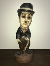 "Vintage Charlie Chaplin Esco Chalkware Statue Figure 15 1/2"" Tall"