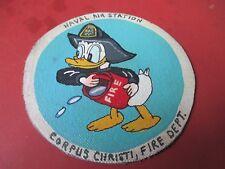 WWII  DISNEY DONALD DUCK NAS CORPUS CHRISTI  FIRE DEPT  JACKET PATCH
