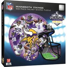 Minnesota Vikings 500 Piece Helmet Shaped Jigsaw Puzzle Officially Licensed