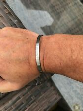 Coordinate cuff bracelet brushed stainless steel 2 side engraving
