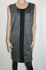 threadz Designer Black Knit Sleeveless Day Dress Size L BNWT #SO92