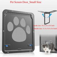 Pet Screen Door_Automatic Pet Window Cat/Dog Door Home Lock Mesh Gate_8 x 10''