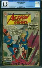 Action Comics #252 CGC 1.5 DC 1959 1st Supergirl! Key Book! Superman! K12 202 cm