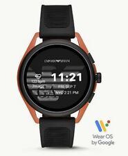 NEW! EMPORIO ARMANI Red Aluminum Black Rubber Gen 5 Smartwatch ART5025 SEALED