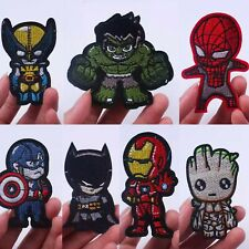 Novelty Marvel Morale Patch Embroidered Hook Backing Groot America Iron Man Bat