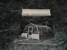 Home Greenhouses Circular 879 For Year Round Gardening Pleasures