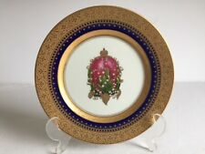 """Vintage Gold Faberge China Imperial Lilies Of The Valley Egg Salad Plate 7 3/4"""""""