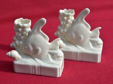 Pez ángel adornos, cerámica 1940s