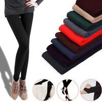 Ladies Thermal Leggings Thick Winter Fleece Lined Warm High Waist Tummy Control