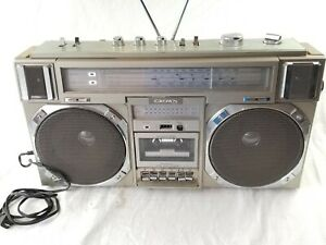 vintage CROWN CSC-950F VINTAGE STEREO BOOMBOX EXTREMELY RARE tested WORKS GREAT
