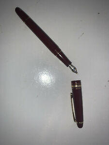 mont blanc fountain pen Red Wine/Gold
