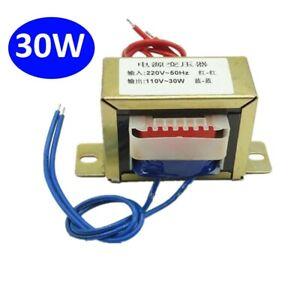 1PCS EI66 Power Transformer 30W Input AC 220V/50Hz -Output AC Single 110V 0.27A