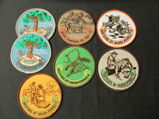 Baden-Powell Art Patches 4 inches in diameter, Lot of 7       cjp x2